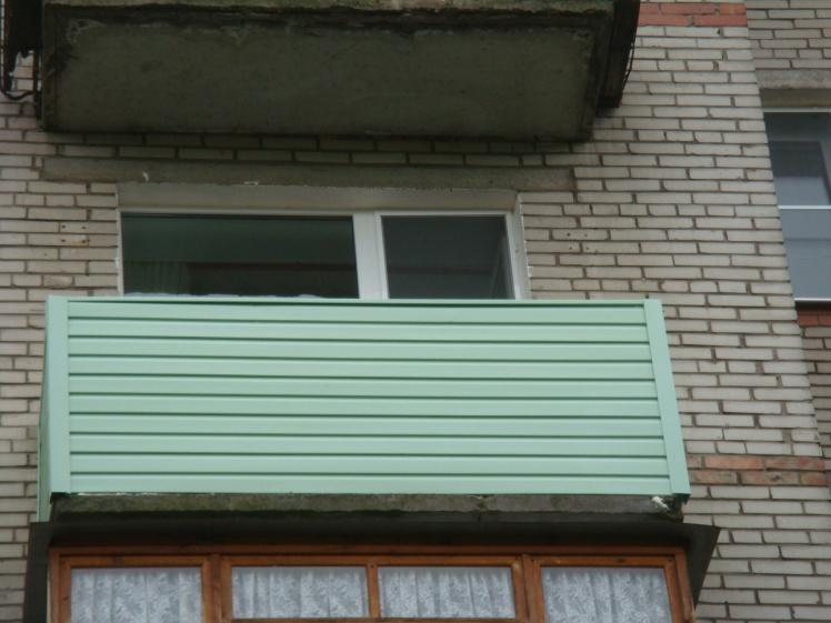 Отделка балкона холодное о